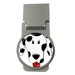Dalmation cartoon head Money Clips (Round)