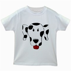 Dalmation cartoon head Kids White T-Shirts