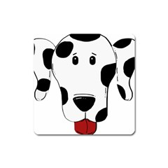 Dalmation cartoon head Square Magnet