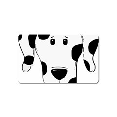 Dalmation cartoon head Magnet (Name Card)