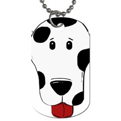 Dalmation cartoon head Dog Tag (One Side)
