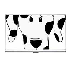 Dalmation cartoon head Business Card Holders
