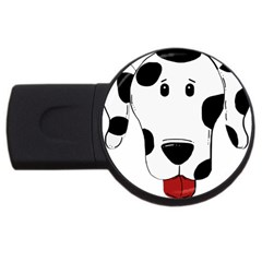 Dalmation cartoon head USB Flash Drive Round (1 GB)