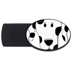 Dalmation cartoon head USB Flash Drive Oval (1 GB)