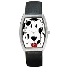 Dalmation cartoon head Barrel Style Metal Watch