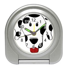 Dalmation cartoon head Travel Alarm Clocks