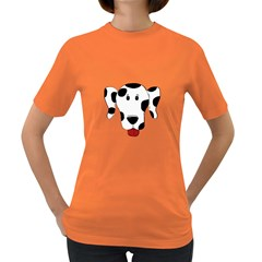 Dalmation cartoon head Women s Dark T-Shirt