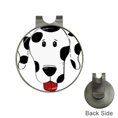 Dalmation cartoon head Hat Clips with Golf Markers