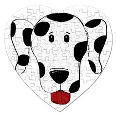 Dalmation cartoon head Jigsaw Puzzle (Heart)
