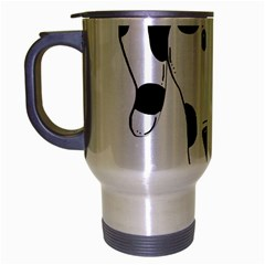 Dalmation cartoon head Travel Mug (Silver Gray)