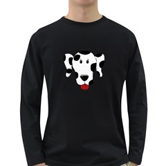 Dalmation cartoon head Long Sleeve Dark T-Shirts