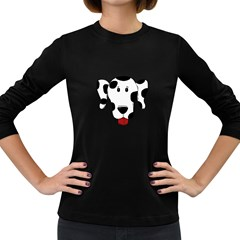 Dalmation cartoon head Women s Long Sleeve Dark T-Shirts