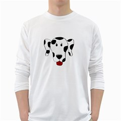 Dalmation cartoon head White Long Sleeve T-Shirts