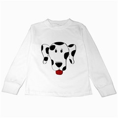 Dalmation cartoon head Kids Long Sleeve T-Shirts