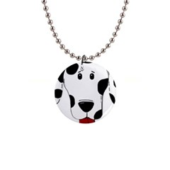 Dalmation cartoon head Button Necklaces