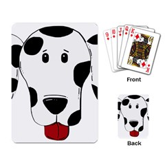 Dalmation cartoon head Playing Card
