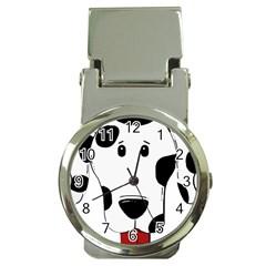Dalmation cartoon head Money Clip Watches
