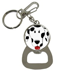 Dalmation cartoon head Bottle Opener Key Chains