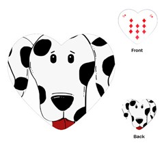 Dalmation cartoon head Playing Cards (Heart)