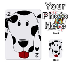 Dalmation cartoon head Playing Cards 54 Designs