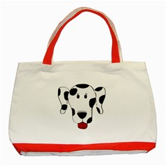Dalmation cartoon head Classic Tote Bag (Red)