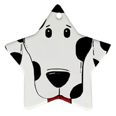 Dalmation cartoon head Star Ornament (Two Sides)