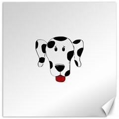 Dalmation cartoon head Canvas 16  x 16