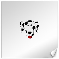 Dalmation cartoon head Canvas 20  x 20
