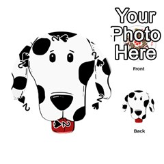 Dalmation cartoon head Playing Cards 54 (Round)