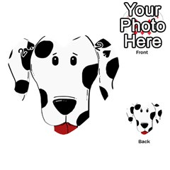 Dalmation cartoon head Playing Cards 54 (Heart)