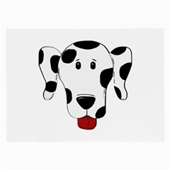 Dalmation cartoon head Large Glasses Cloth