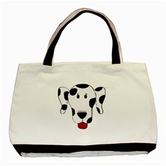 Dalmation cartoon head Basic Tote Bag (Two Sides)