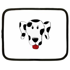 Dalmation cartoon head Netbook Case (Large)
