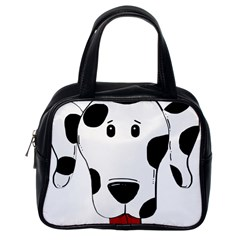 Dalmation cartoon head Classic Handbags (One Side)
