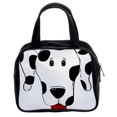 Dalmation cartoon head Classic Handbags (2 Sides)