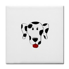 Dalmation cartoon head Face Towel