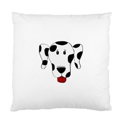 Dalmation cartoon head Standard Cushion Case (One Side)