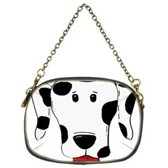 Dalmation cartoon head Chain Purses (Two Sides)