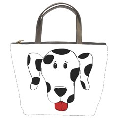 Dalmation cartoon head Bucket Bags