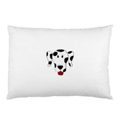 Dalmation cartoon head Pillow Case