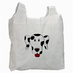 Dalmation cartoon head Recycle Bag (Two Side)