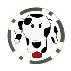 Dalmation cartoon head Poker Chip Card Guards (10 pack)