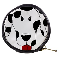 Dalmation cartoon head Mini Makeup Bags