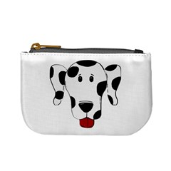 Dalmation cartoon head Mini Coin Purses