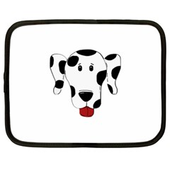 Dalmation cartoon head Netbook Case (XL)