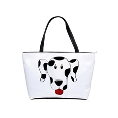 Dalmation cartoon head Shoulder Handbags