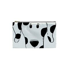 Dalmation cartoon head Cosmetic Bag (Small)