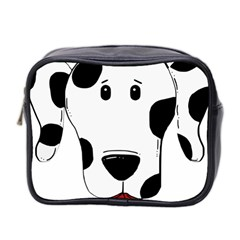 Dalmation cartoon head Mini Toiletries Bag 2-Side