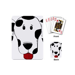Dalmation cartoon head Playing Cards (Mini)
