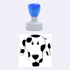 Dalmation cartoon head Rubber Round Stamps (Medium)